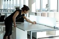 Clable Management Sliding Desk